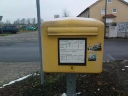 Briefkasten in der Siedlungserweiterung von Hoenow
