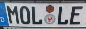 Kfz-Kennzeichen MOL-LE